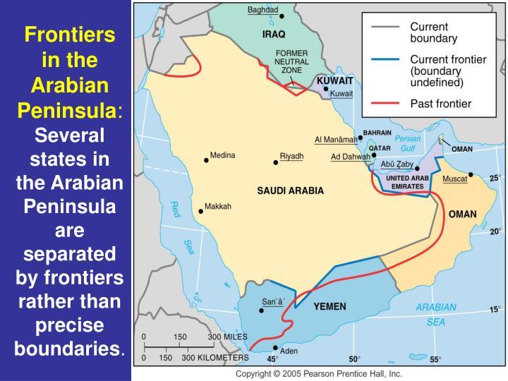 Frontiers in the Arabian Peninsula