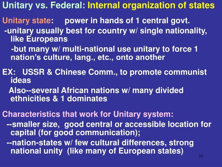 Unitary vs. Federal: