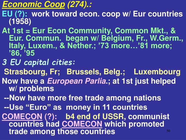 Economic Coop
