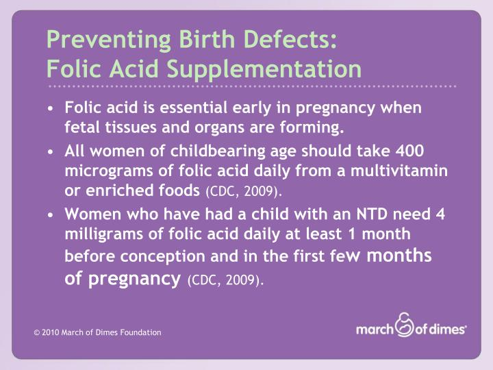 Preventing Birth Defects: