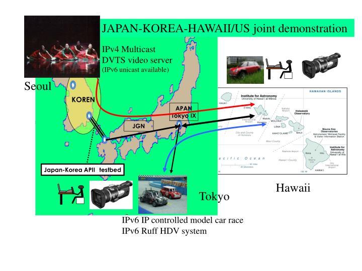 JAPAN-KOREA-HAWAII/US joint demonstration