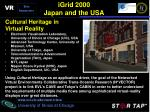 igrid 2000 japan and the usa