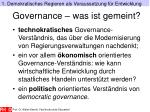 governance was ist gemeint