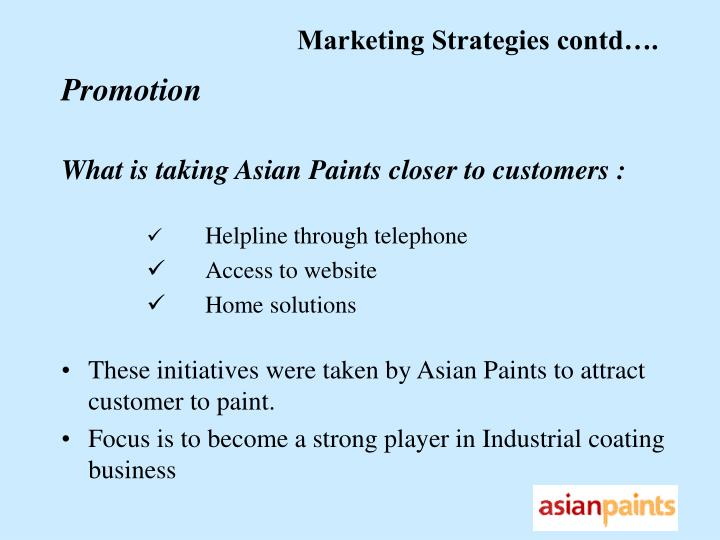 Will asian paints marketing strategies can