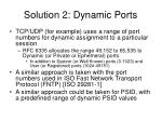 solution 2 dynamic ports