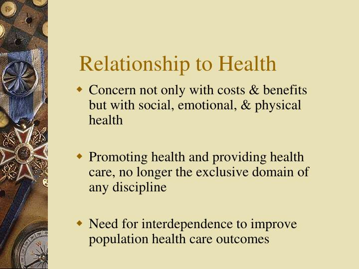 Relationship to Health