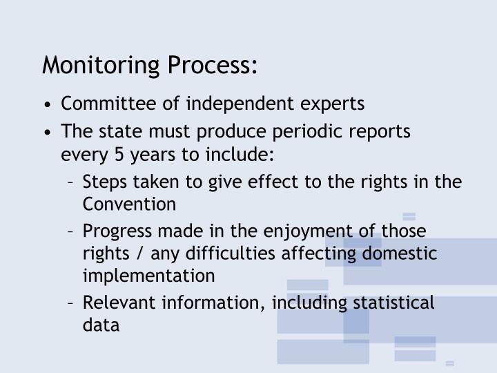 Monitoring Process: