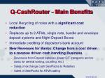 q cashrouter main benefits