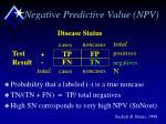 negative predictive value npv