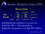 positive predictive value ppv