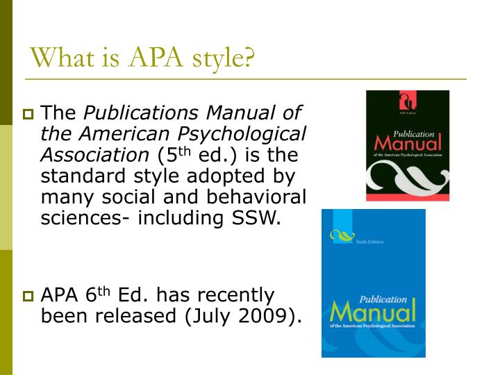 What is apa style
