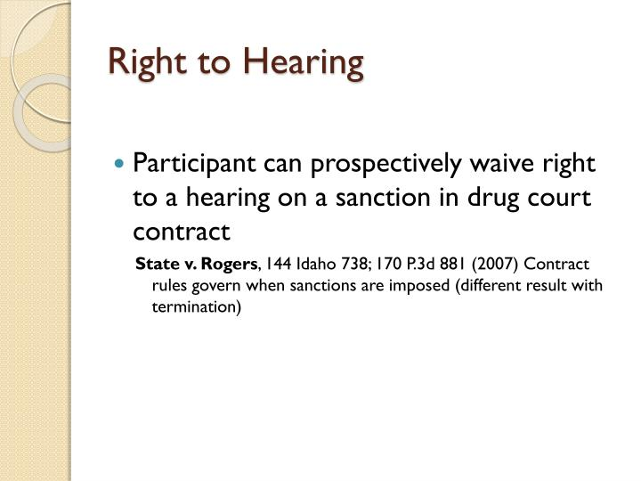 Right to Hearing