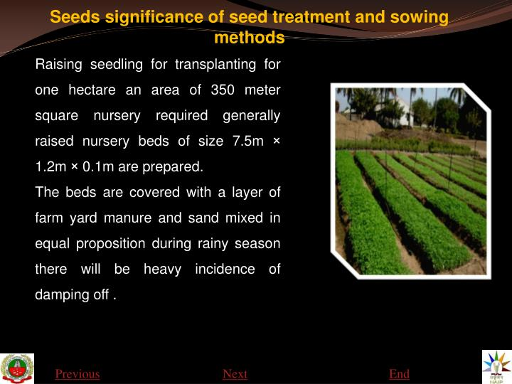 Seeds significance of seed treatment and sowing methods1
