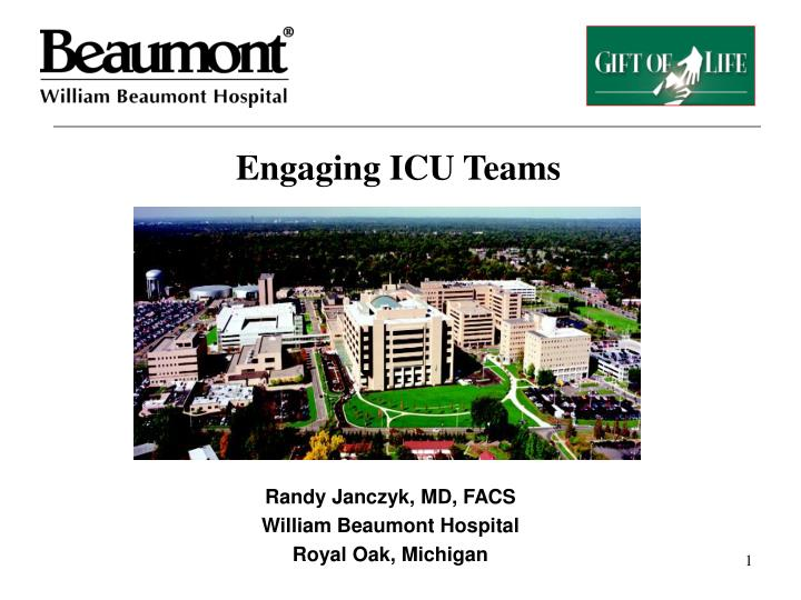 Engaging icu teams