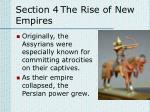 section 4 the rise of new empires