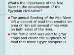 what s the importance of the nile river to the development of the egyptian civilization