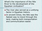 what s the importance of the nile river to the development of the egyptian civilization1