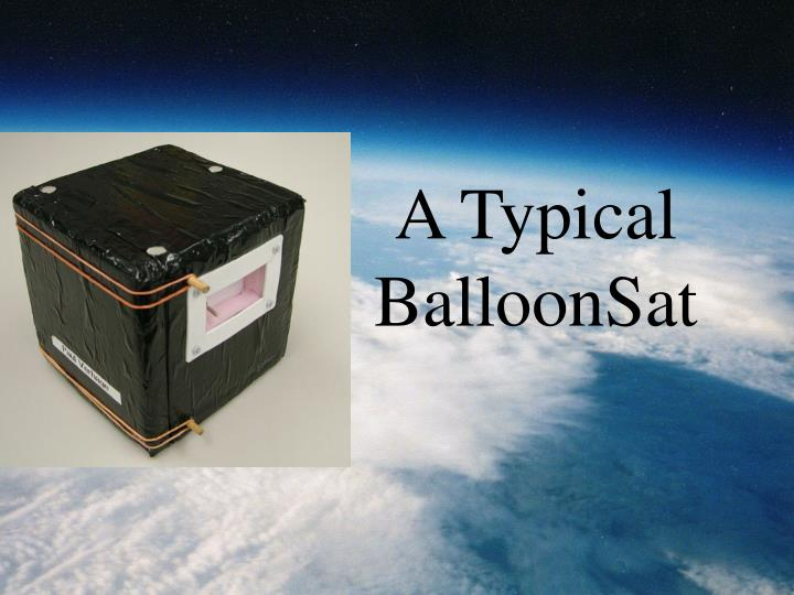 A typical balloonsat