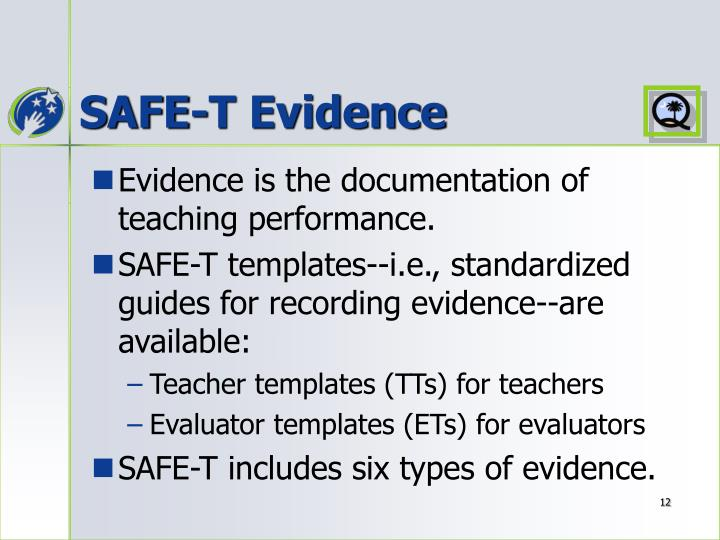 SAFE-T Evidence