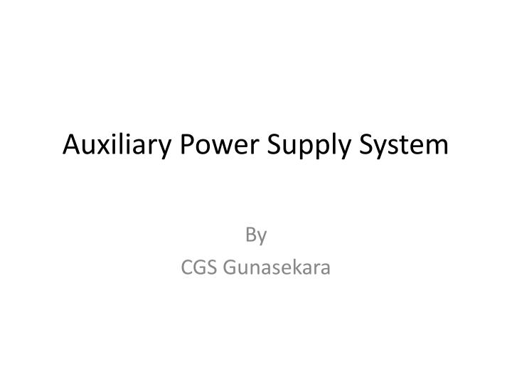 auxiliary power supply system n.