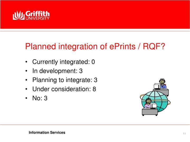 Planned integration of ePrints / RQF?