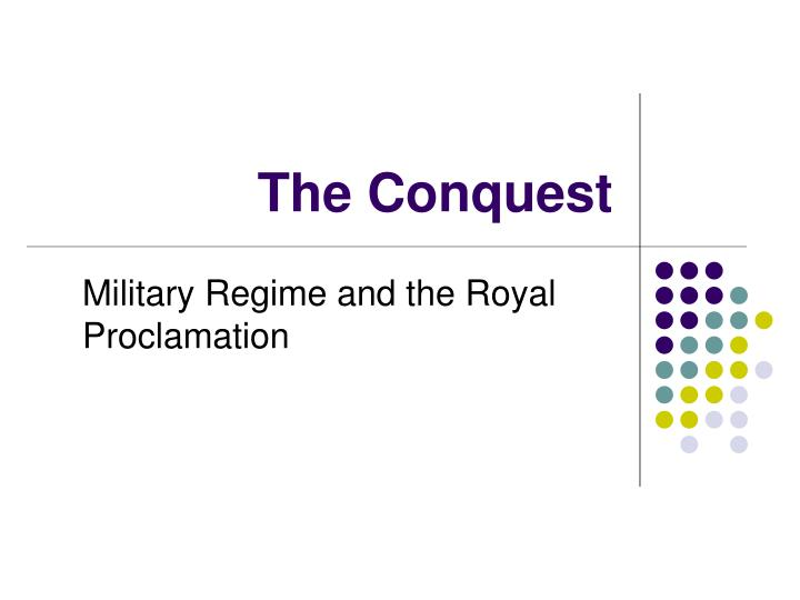 the conquest n.