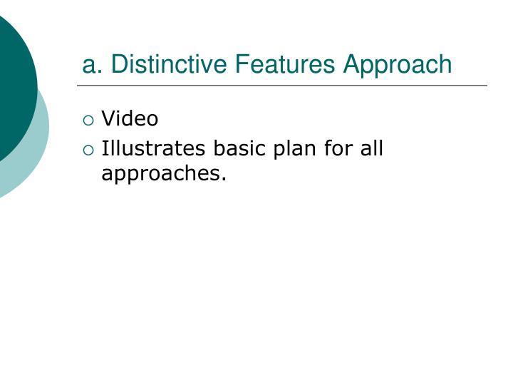 a. Distinctive Features Approach