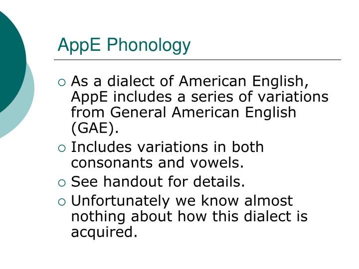 AppE Phonology
