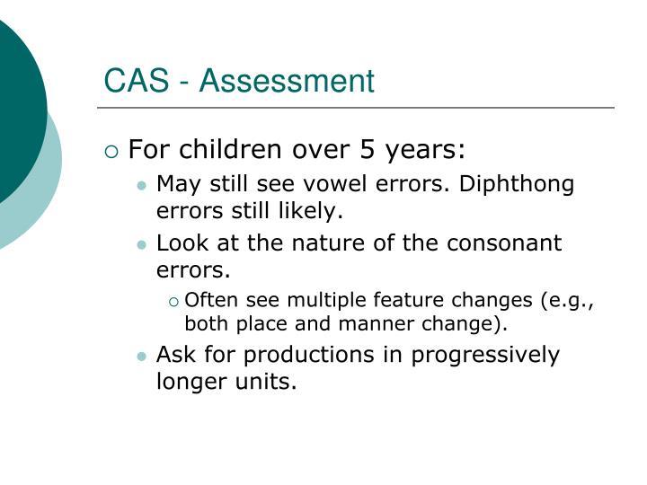 CAS - Assessment
