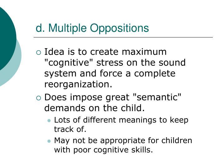 d. Multiple Oppositions