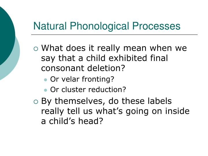 Natural Phonological Processes