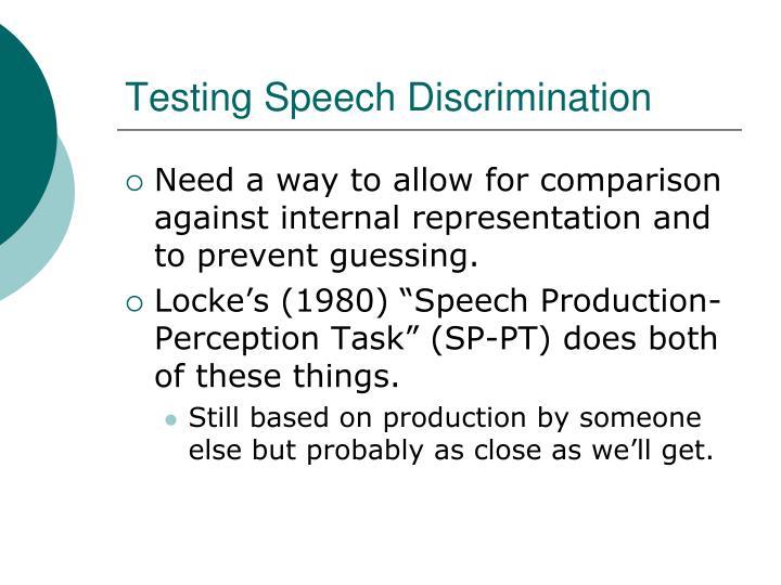 Testing Speech Discrimination