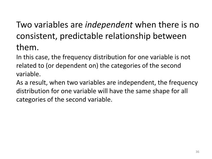 Two variables are