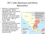 19 th c usa missionary and ethnic nationalism