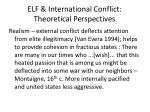 elf international conflict theoretical perspectives
