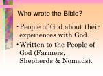 who wrote the bible