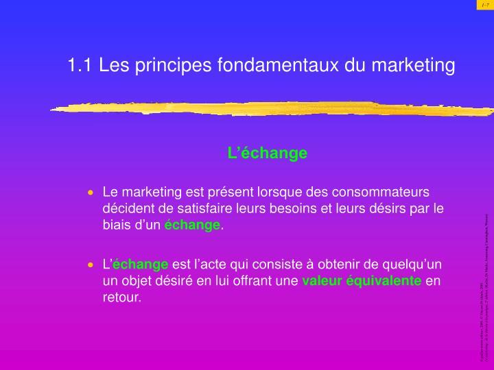 1.1 Les principes fondamentaux du marketing
