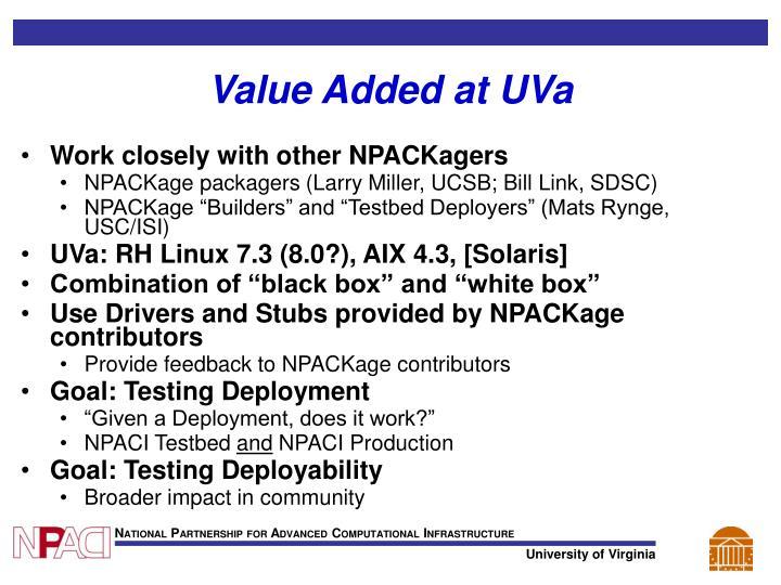Value Added at UVa