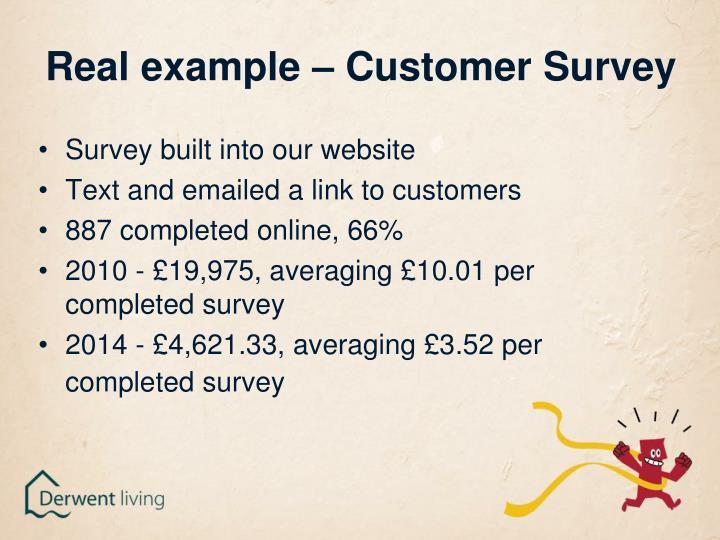 Real example – Customer Survey