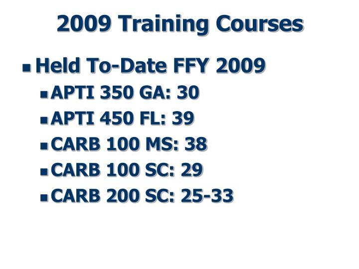 2009 Training Courses