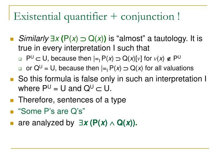Existential quantifier +