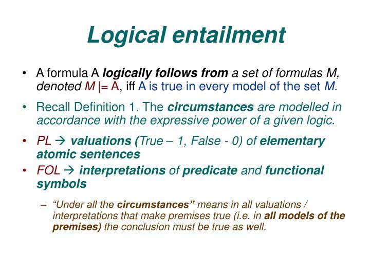 Logical entailment