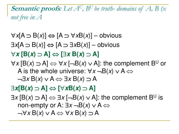 Semantic proofs