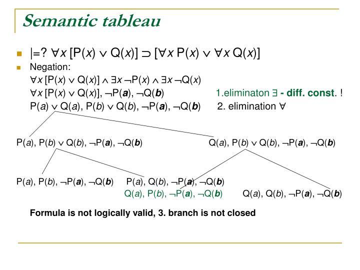 Semantic tableau