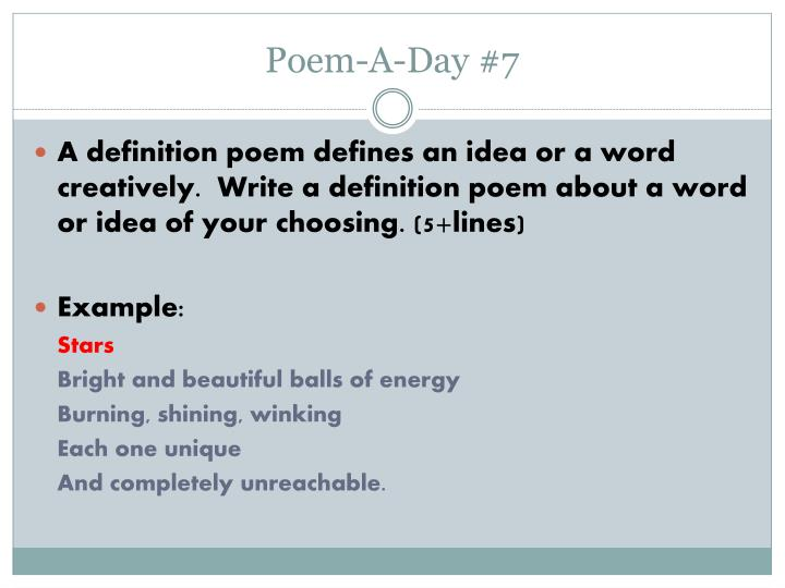 PPT - Literary Terms and Poem-A-Day PowerPoint Presentation - ID:3949338