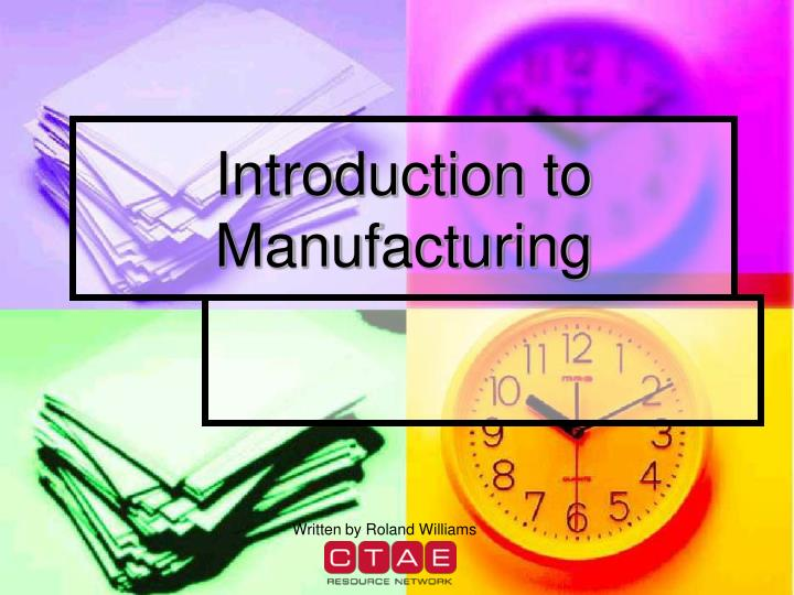 introduction to manufacturing