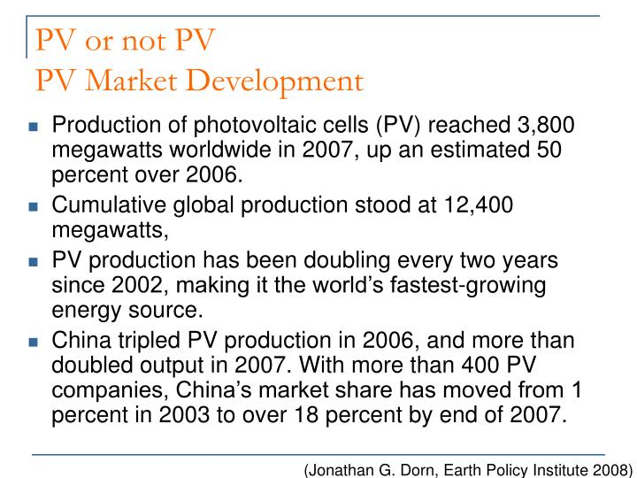 PV or not PV