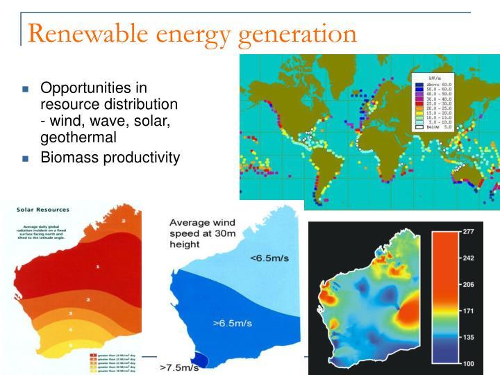 Renewable energy generation