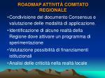 roadmap attivit comitato regionale