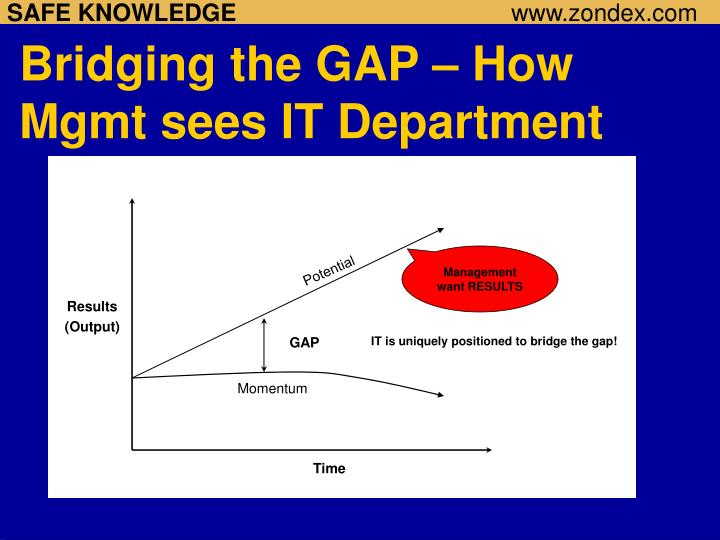 Bridging the GAP – How Mgmt sees IT Department